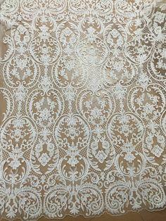 Elegent lace fabric tulle bridal lace guipure by Jennylacefabric