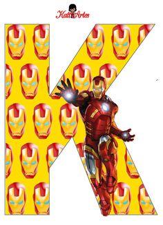 EUGENIA - KATIA ARTS - LETTRES ET CUSTOM BLOG quelques choses: Iron Man alphabet et les chiffres