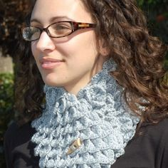 A cozy and sophisticated neck warmer to keep you warm and pretty. A very unique and interesting crochet stitch that is not often seen.