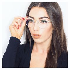 Great picture by @livharrould Transparent frames is that they look great almost on everyone. Featured Glasses>>#S1395 LInk>>https://goo.gl/xw6XbU