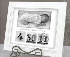 Baby birth announcement etsy