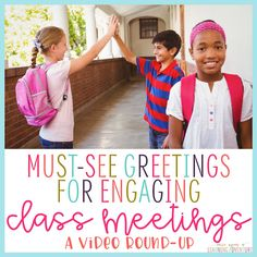 Once Upon a Learning Adventure: Class Meeting Greetings in Action: A Video Round-Up Classroom Management Tips, Behavior Management, Classroom Organization, Class Management, Classroom Ideas, Class Meetings, Morning Meetings, Morning Work, First Grade