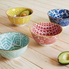 Folk Pad Printed Serving Bowls | west elm UK