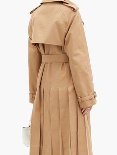 Lorna double-breasted pleated cotton trench coat | Gabriela Hearst | MATCHESFASHION UK Silk Organza, Silk Chiffon, Gabriela Hearst, Friends In Love, Double Breasted, Fitness Models, Women Wear, Trench, Underground Tube
