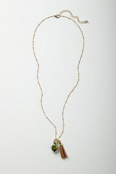 Terrarium Tassel Necklace #anthropologie  $38.00