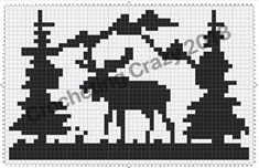 Moose Scene Hat Pattern | Crocheting Crazy Baby Hats Knitting, Knitting Charts, Knitting Stitches, Knitted Hats, Crochet Hats, Cross Stitch Designs, Cross Stitch Patterns, Graph Crochet, Filet Crochet