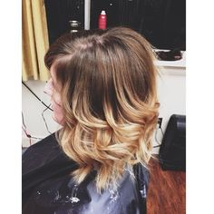 My Short hair ombre! By Darrah at Hype VII salon!