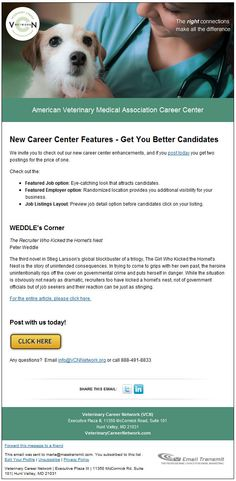 Veterinary Career Network: New Career Center Features