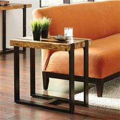 Teton Chairside Table I Riverside Furniture 16x26x24H
