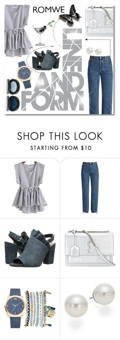 """Untitled #599"" by beautiful-723 ❤ liked on Polyvore featuring Vetements, Seychelles, Yves Saint Laurent, Mixit, AK Anne Klein and Olive"