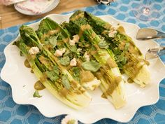 Get Valerie Bertinelli's Grilled Romaine with Balsamic Dressing Recipe from Food Network