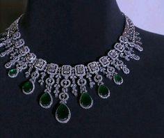 @thejewellcloset Stunning Diamond & Emerald necklace by Tanishq.