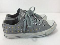 31.65$  Watch now - http://vivql.justgood.pw/vig/item.php?t=b0cg0b14599 - Converse All Stars Womens 7US 5UK 37.5EU Studded Gray Low Rise Sneakers Gym Shoe 31.65$
