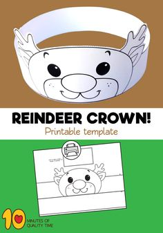 Reindeer Crown Template Hat Template, Crown Template, Butterfly Template, Flower Template, Owl Templates, Applique Templates, Applique Patterns, Reindeer Headband, Reindeer Hat