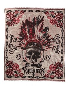"Bad&Bold - Rude Riders Decke ""Lax Cal. Indian"" - Rude Riders Clothing - Marken"