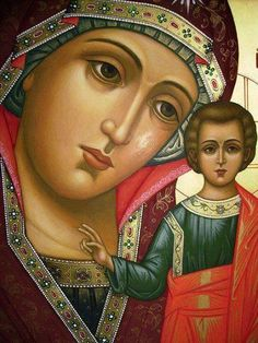 Pinterest Madonna Art, Madonna And Child, Religious Icons, Religious Art, Hail Holy Queen, Images Of Mary, Mama Mary, Russian Icons, Byzantine Icons