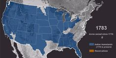Map: Time-lapse of American seizure of indigenous land, 1776-1887.