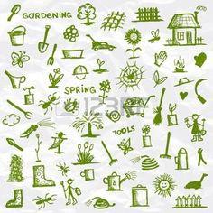 outils de jardin: fond de jardinage Illustration   les aventures de ...