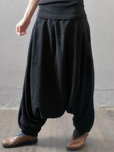Casual Loose Elastic Waist Pure Color Women Harem Pants - Banggood Mobile