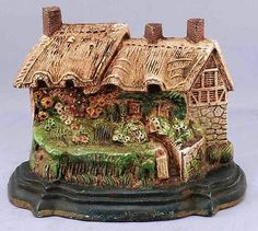 Antique Cast Iron Art Country Cottage House Home Doorstop Original Paint   eBay