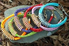 Colorful Braided Chain Accent Bracelet 6 Colors $3.99 #MoonGlow