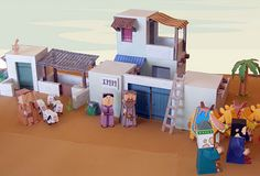 Bible Paper Toys - a selection of printable paper toys to help retell Bible stories.