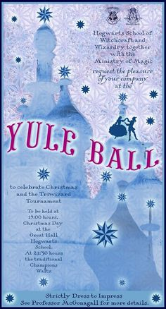 Yule Ball invitation Harry Potter lives Pinterest Yule ball