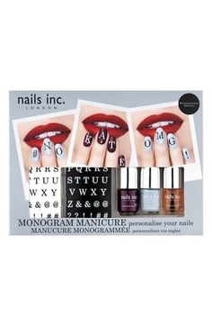 monogram manicure set