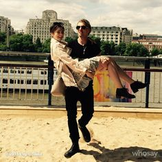 Jamie Campbell Bower and Lily Collins. June 2015