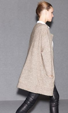 ACNE PRE COLLECTION AW 11 RAYA Mohair cardigan and BEST Leather pants