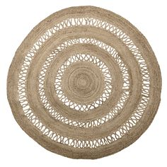 Beautifully soft but hardwearing, our Jute Circles Rug has a stunning cut out design and is perfect for kitchen, living room or bedroom. As featured in Elle Decoration Country Details Size: diameter Material: Jute Care: Light Vacuum DANISH DESIGN Jute Rug, Woven Rug, Jute Carpet, Magazine Deco, Circle Rug, Classic Rugs, Rug Material, Natural Rug, Large Rugs