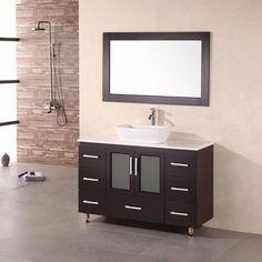"Design Element 48"" Stanton Single Sink Vanity Set with Vessel Sink - B48-VS"
