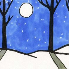 Sharpie Winter Landscape