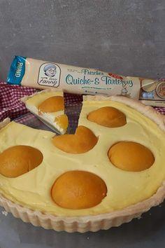 Skyr Käsekuchen mit Pfirsich