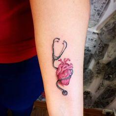 Paramedic Tattoo, Rn Tattoo, Doctor Tattoo, Floral Thigh Tattoos, Tattoos For Women Half Sleeve, Marquesan Tattoos, Tattoo Designs And Meanings, Mini Tattoos, Beautiful Tattoos