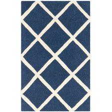 Blues Geometric Area Rugs | Wayfair