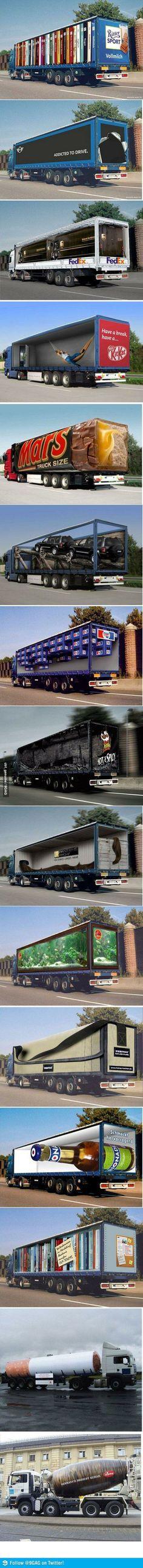 3D реклама на полуприцепах