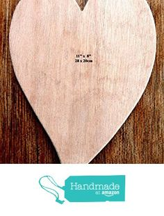 "Fantastic Super Sized Hand Crafted MDF Heart Shaped Blank Plaque 11"" x 8"" - 9mm Thick (Style 4) from The Andromeda Print Emporium https://www.amazon.co.uk/dp/B01KBKFARG/ref=hnd_sw_r_pi_dp_noRRxb6X2YXQM #handmadeatamazon"