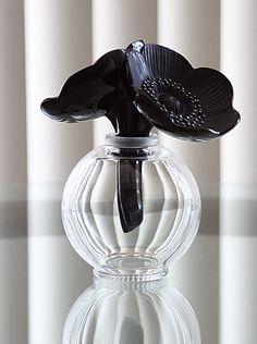 ラリック lalique アネモネ香水瓶(ブラック)