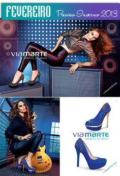 Anúncios #viamarte Fevereiro na #elle e #marieclaire | Tachas, Brilho, Spikes