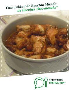 ALITAS DE POLLO CON SALSA DE SOJA, MIEL Y LIMON por virkiky. La receta de Thermomix<sup>®</sup> se encuentra en la categoría Carnes y aves en www.recetario.es, de Thermomix<sup>®</sup> Kung Pao Chicken, Meat, Cooking, Ethnic Recipes, Food, Wing Recipes, Appetizers, Soy Sauce Chicken, Chef Recipes