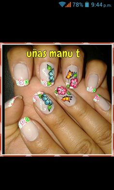 Uñas manu t Manicure And Pedicure, T 4, Toe Nails, Nail Art Designs, Acrylic Nails, Finger, Beauty, Model, Facebook