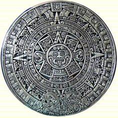 Aztec Calender in silver
