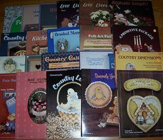 Lot of 21 Tole & Decorative Painting books / Bird, Book & Bauble / Group 3