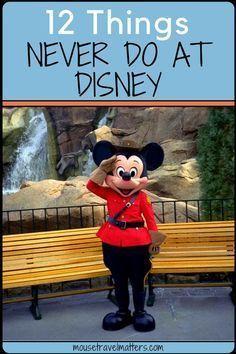 12 things never to do at Disney. Walt Disney World #Disney #DisneyKids #DisneyWorld #FamilyTravel #Travel Disney World Vacation Planning, Walt Disney World Vacations, Disney Planning, Vacation Ideas, Family Vacations, Orlando Vacation, Trip Planning, Vacation Packing, Disney Resorts