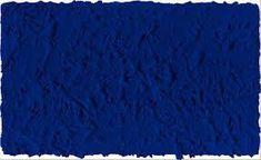 Via Yves Klein, *Monochrome bleu sans titre (IKB 27 x 46 cm - Here it is: I just discovered Klein blue, the colour that's obsessed me for the past 2 years. Jean Tinguely, Monet, International Klein Blue, Nouveau Realisme, Pop Art, Rose Croix, Monochrome Painting, Yves Klein Blue, Critique D'art