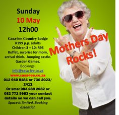 We will be having our annual Mothers Day Lunch at Casablanca Manor this year. Book now to avoid disappointment!