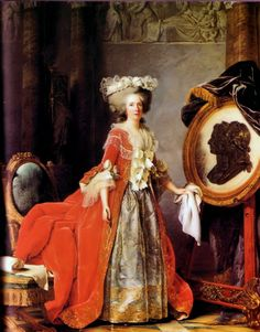 """"""" Portrait of Madame Adélaïde."""" (Adélaïde Labille-Guiard, 1787, oil on canvas) In the Château de Versailles (Antichambre de la reine). The Princess Marie Adélaïde was the 4th daughter and 6th child of Louis XV and Queen Marie Leszczyńska. Popularly known as """"Madame Quatrième,"""" until the death of her older sister Louise Marie in 1733, then """" Madame Troisième."""" She outlived both parents and all her siblings, dying in exile in Trieste in 1800. Buried at the Basilica of Saint-Denis, Paris."""