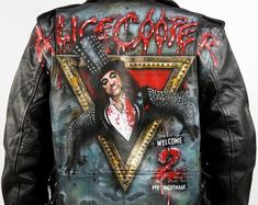 TV Times Alice Cooper Paint Splatter Mens Vest