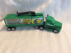 Hot Wheels Truckin' Transporter Import Equipment Truck And Trailer Preowned    eBay